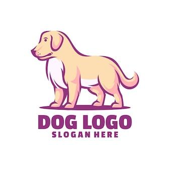 犬のかわいいロゴ