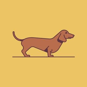 Dog dachshund,  illustration