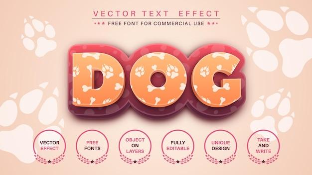 犬の編集テキスト効果フォントスタイル
