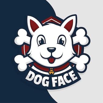 Собака лицо иллюстрации дизайн