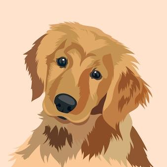 Dog face illustration