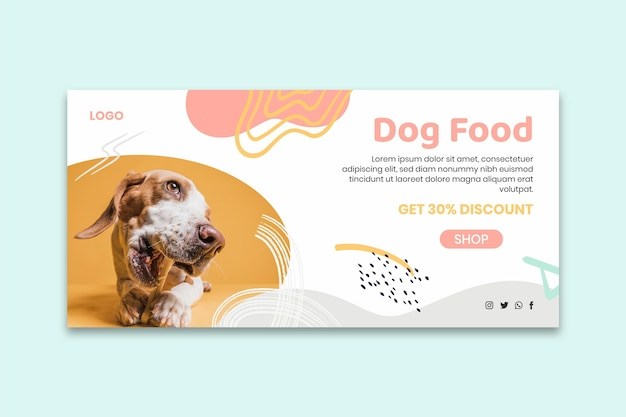 Dog food banner template