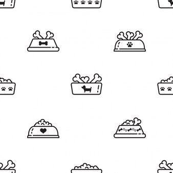 Dog food seamless pattern cartoon