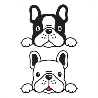 Dog french bulldog cartoon
