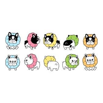 犬フレンチブルドッグ首輪ペット漫画