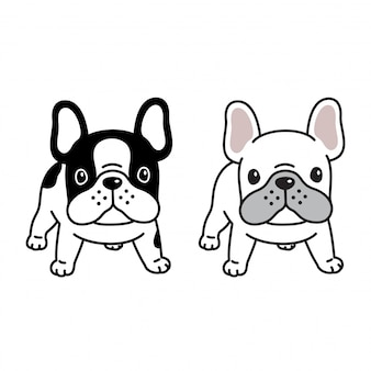 Dog french bulldog illustration