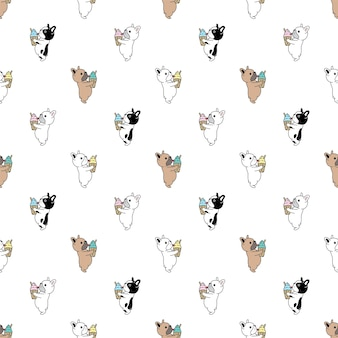 犬フレンチブルドッグシームレスアイスクリーム子犬ペットの品種