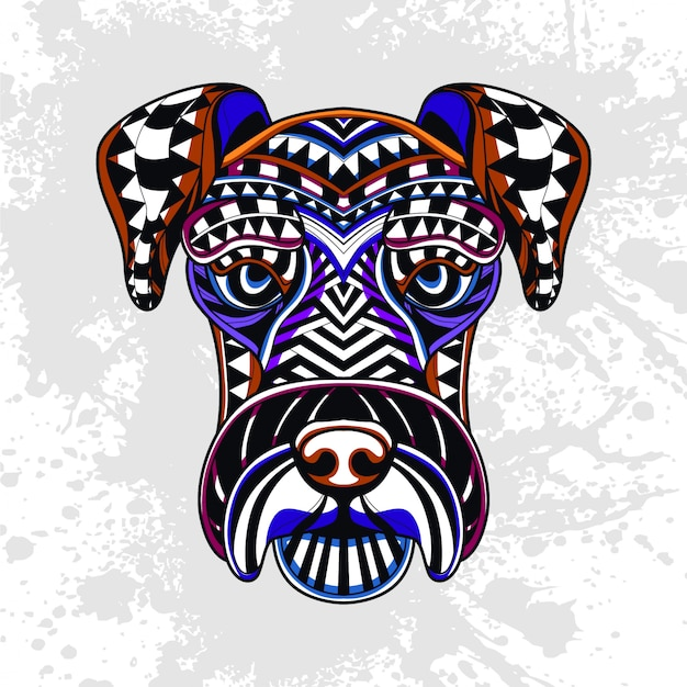 Dog from abstract decorative pattern
