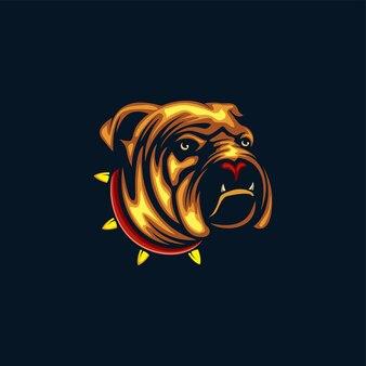 Иллюстрация дизайна головы собаки