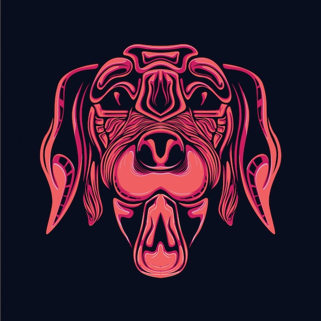 Dog head illustration