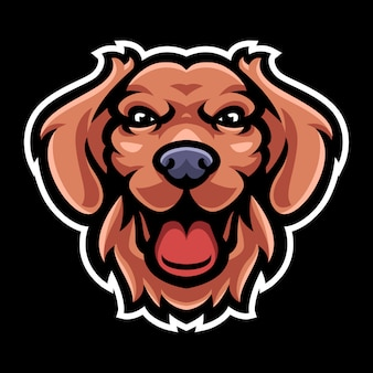 Dog head mascot logo template