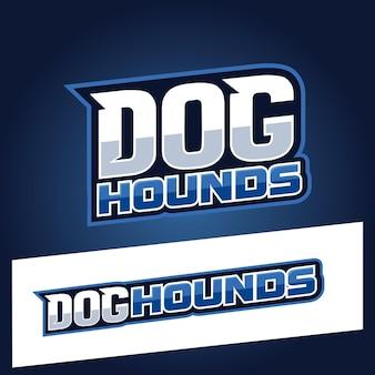 Dog hound text sport style