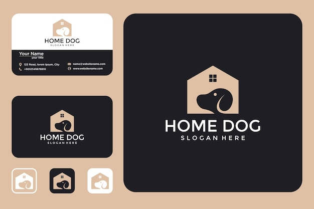 Dog house logo design and business card
