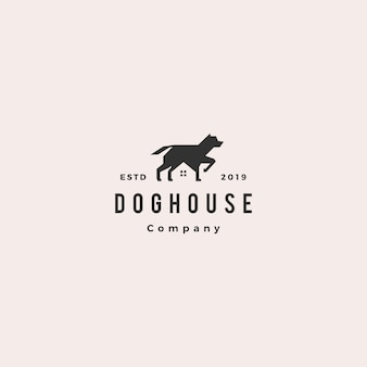 Dog house pet home logo