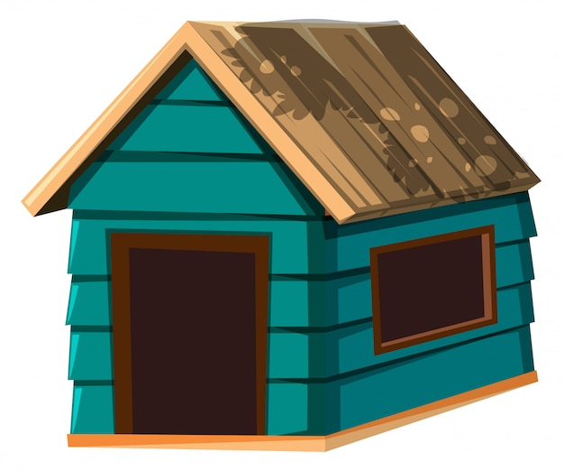 A dog house on white background
