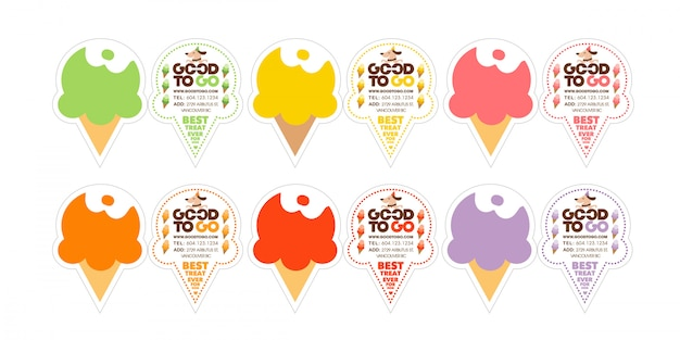 Dog ice cream business card