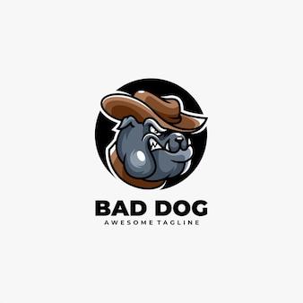 Dog illustration logo