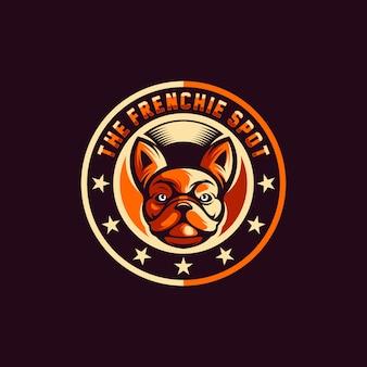 Dog logo design vector