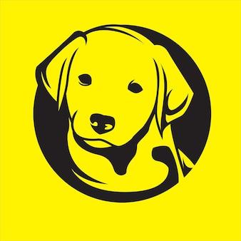 Логотип собаки на желтом фоне