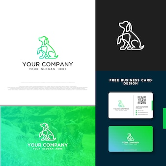 Dog logo with free business card design