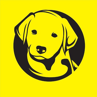 Dog logo on yellow background
