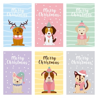 개 메리 크리스마스 카드