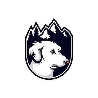 Dog mountain logo vintage