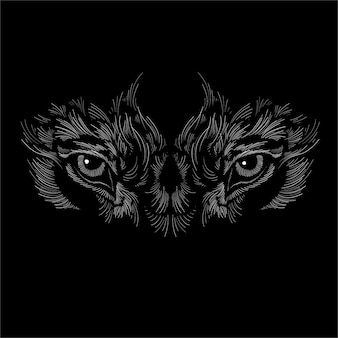 Морда собаки или волка