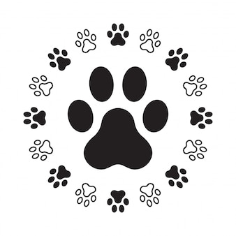 Dog paw footprint