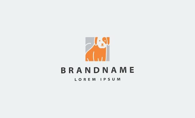 개 애완 동물 간단한 로고 벡터 디자인 아이콘 그림