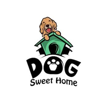Dog pets logo vector