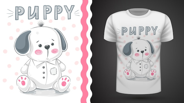 Dog, puppy - idea for print t-shirt