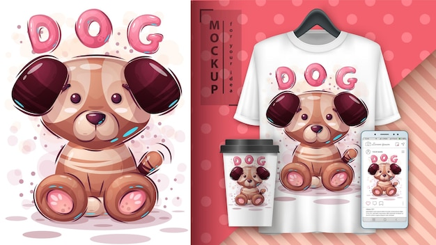 Cane. merchandising per cuccioli