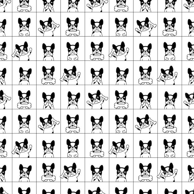 개 완벽 한 패턴 프랑스 불독 만화