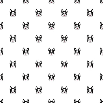 개 완벽 한 패턴 프랑스 불독 캐릭터 만화