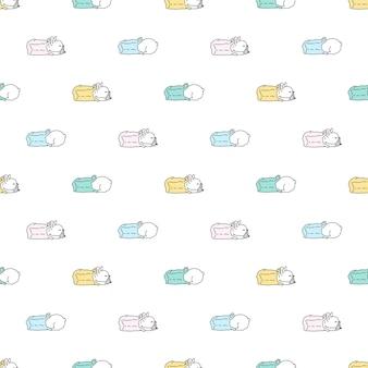 Dog seamless pattern french bulldog shopping bag