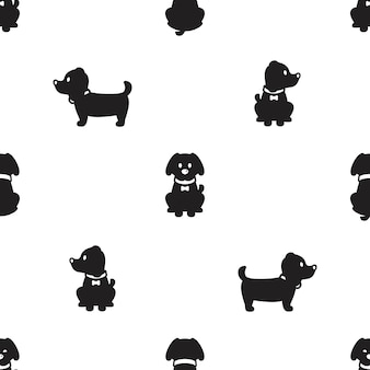 Dog seamless pattern puppy cartoon