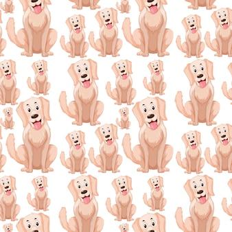 A dog seamless pattern