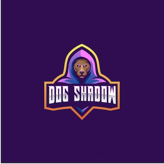 Dog shadow e sport illustration.