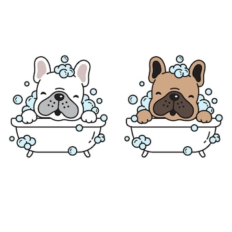 Dog shower puppy cartoon character