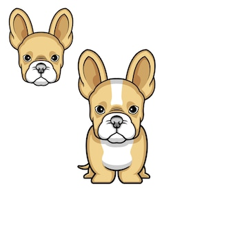 Dog simple logo vector