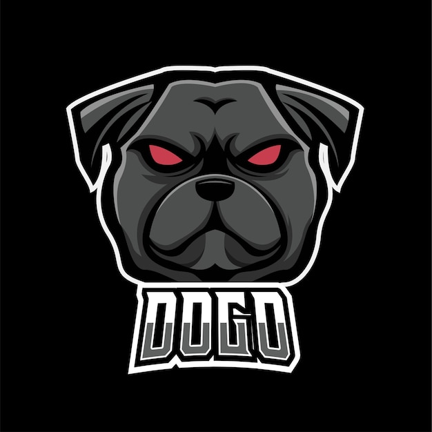 Dog sport and esport gaming mascot logo