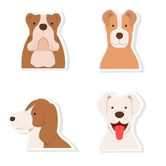 Dog sticker set vector