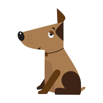 Dog symbol of the new year 2018. funny domestic pet. design for veterinary clinic, canine nursery.