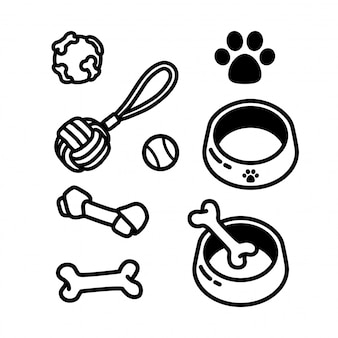 Dog toy food bone icon