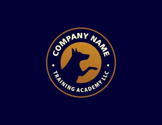 Dog training logo badge company