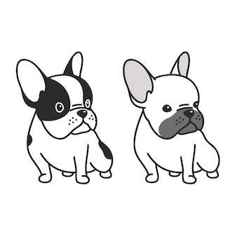 Собака вектор французский бульдог щенок мультфильм