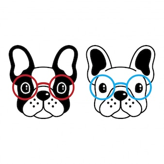 Dog vector french bulldog sunglasses cartoon
