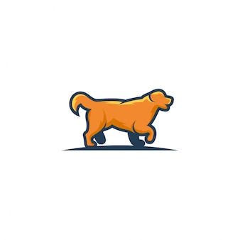 Dog walks vector art,graphics,icon