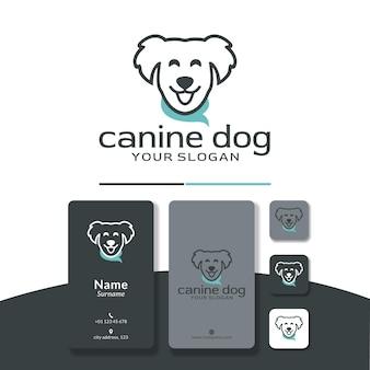 ショールロゴデザインの犬かわいいhappp